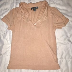 Primark cropped collared shirt